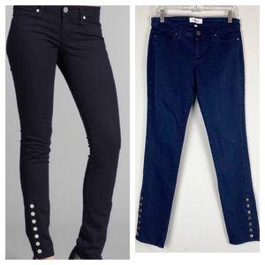 Habitual Dark Denim Skinny Jeans Ankle Buttons 29